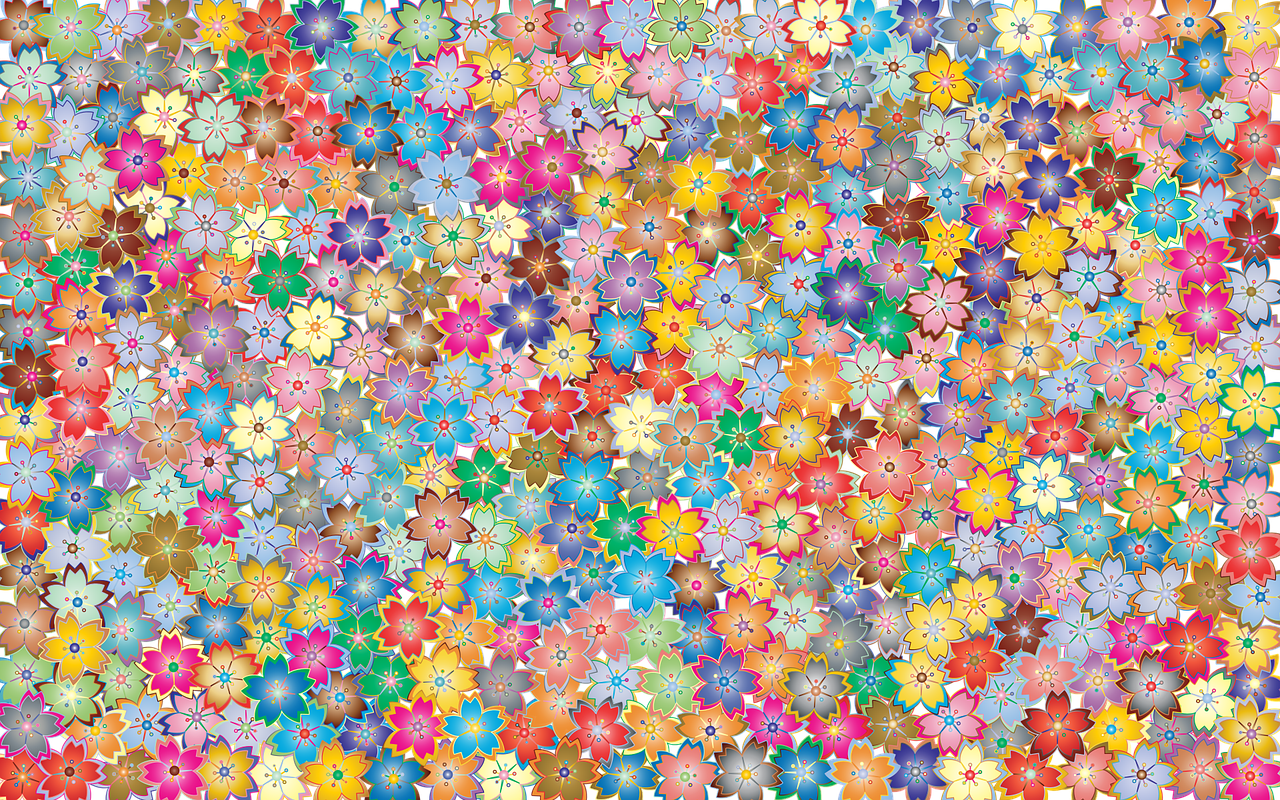 floral, flowers, abstract